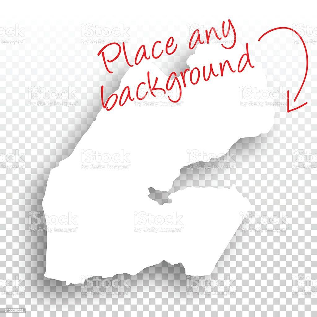 Djibouti Map for design - Blank Background vector art illustration