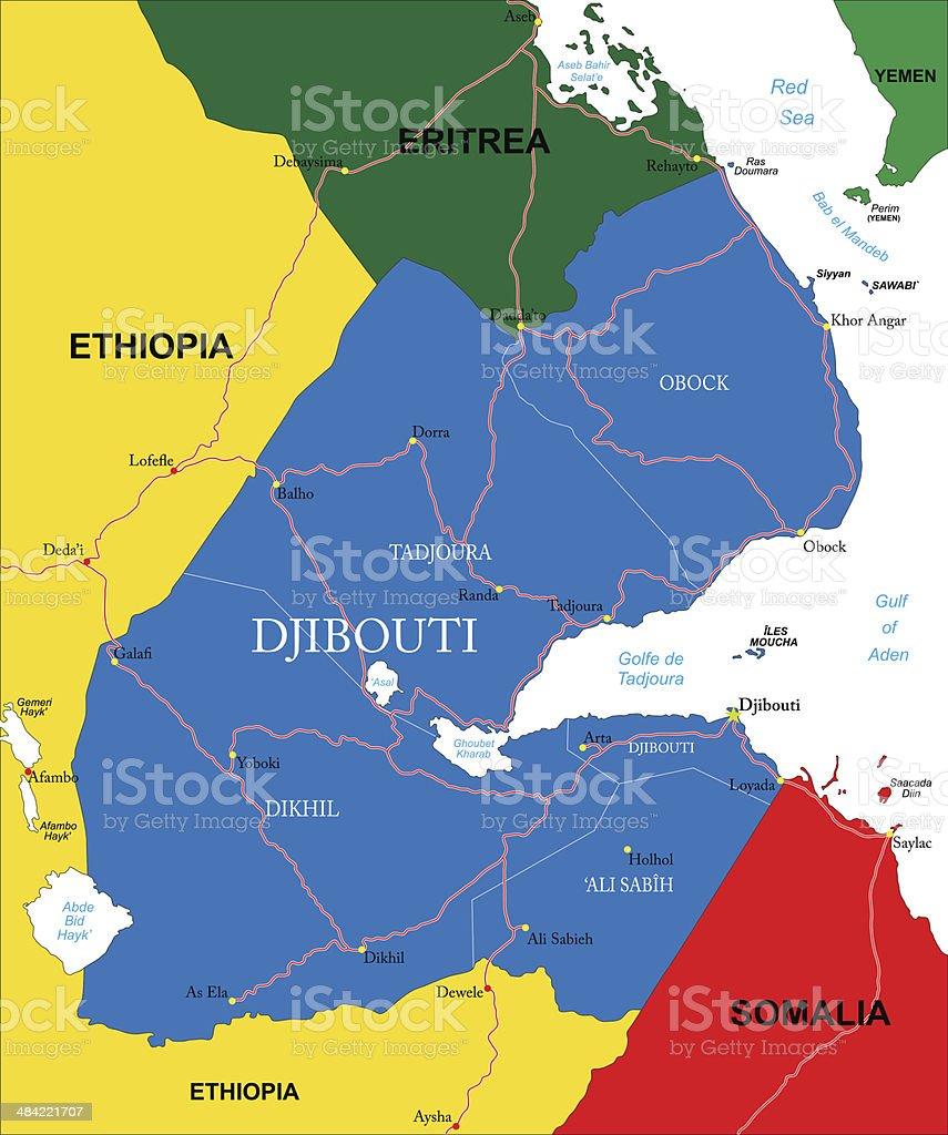Djibouti map royalty-free stock vector art