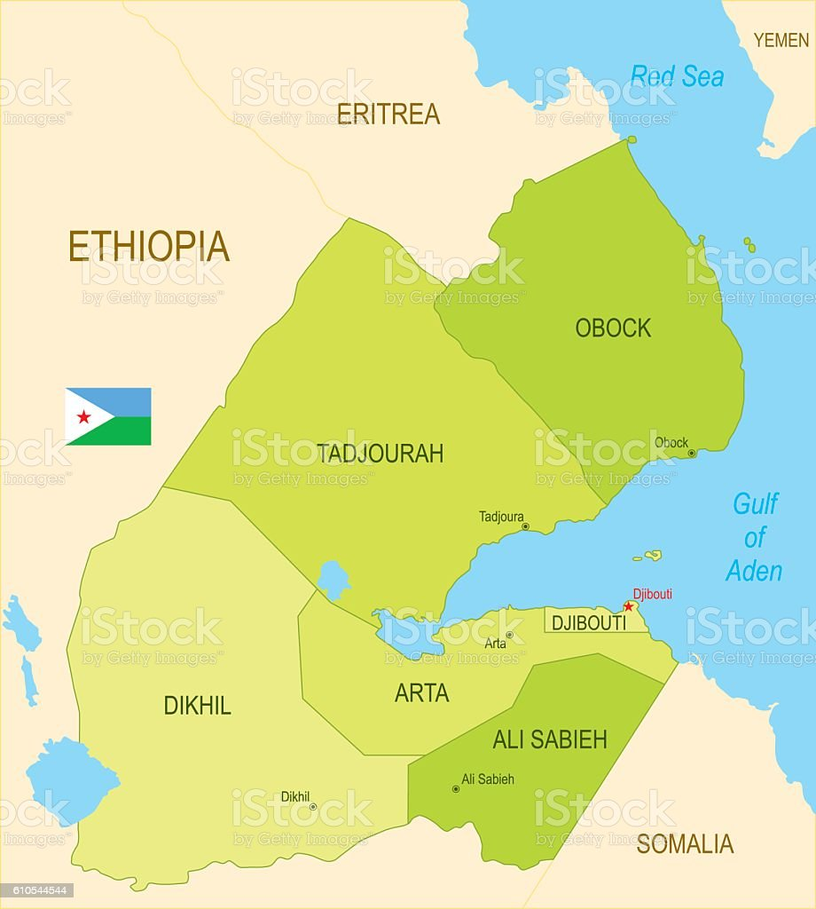 Djibouti vector art illustration