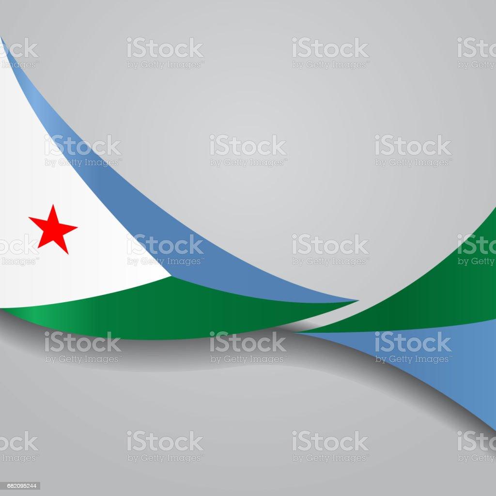 Djibouti wavy flag. Vector illustration. vector art illustration