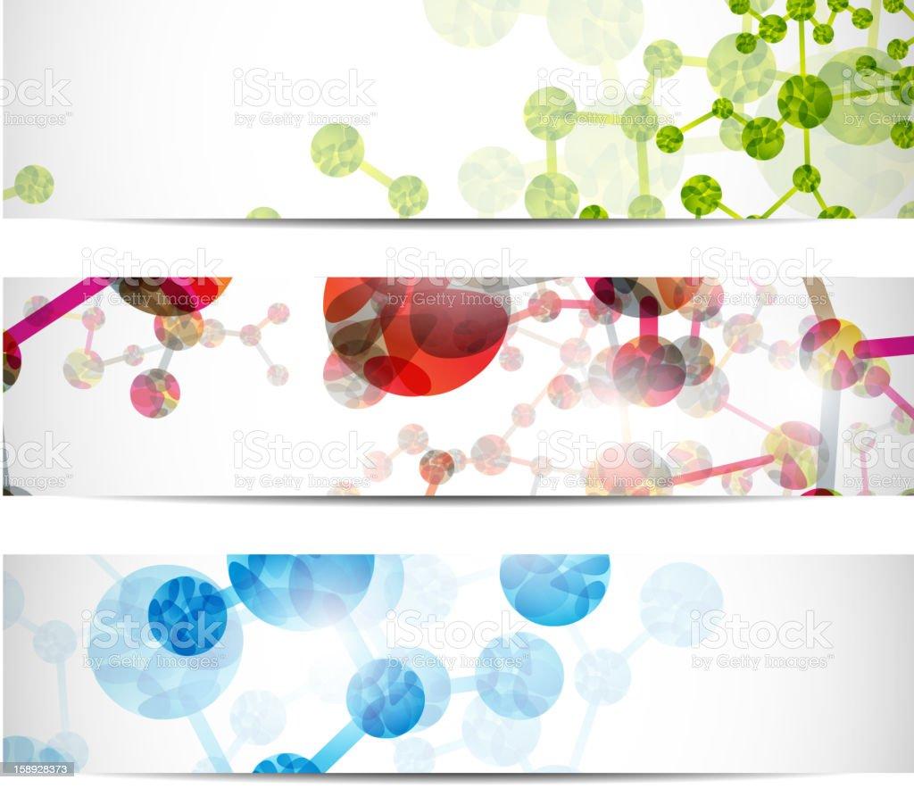dna banner vector art illustration