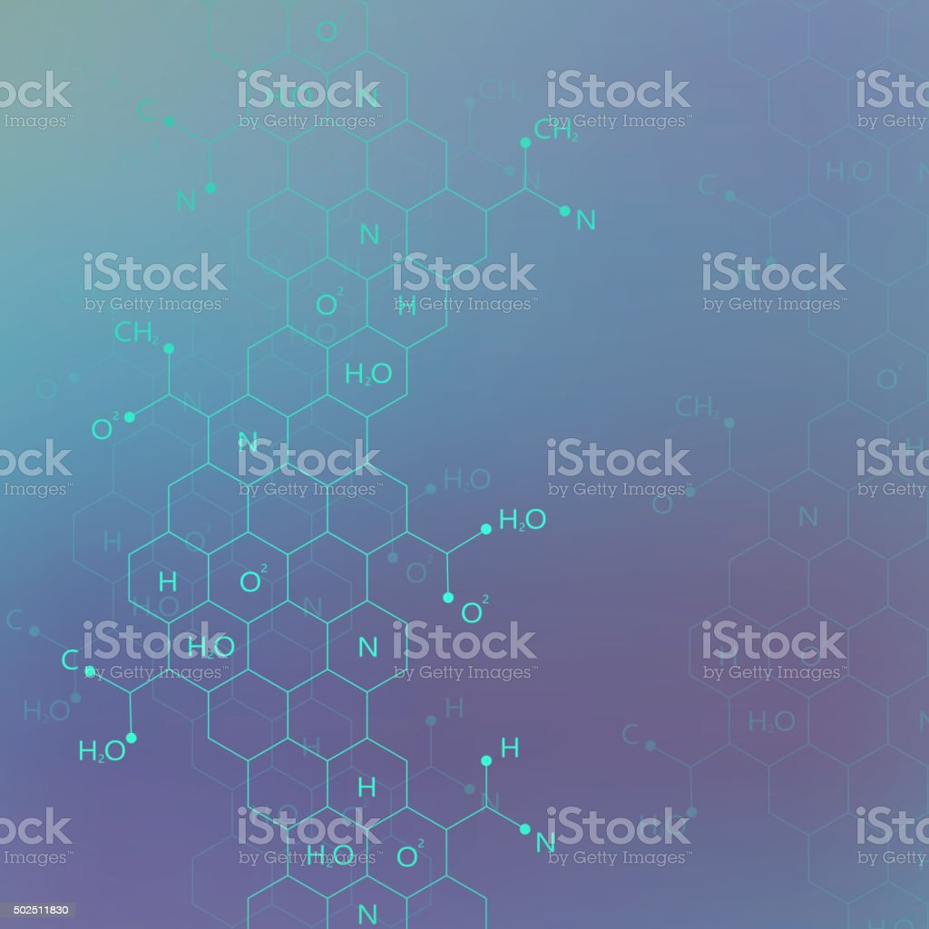 Dna molecule structure on blue background for your design .Vector vector art illustration