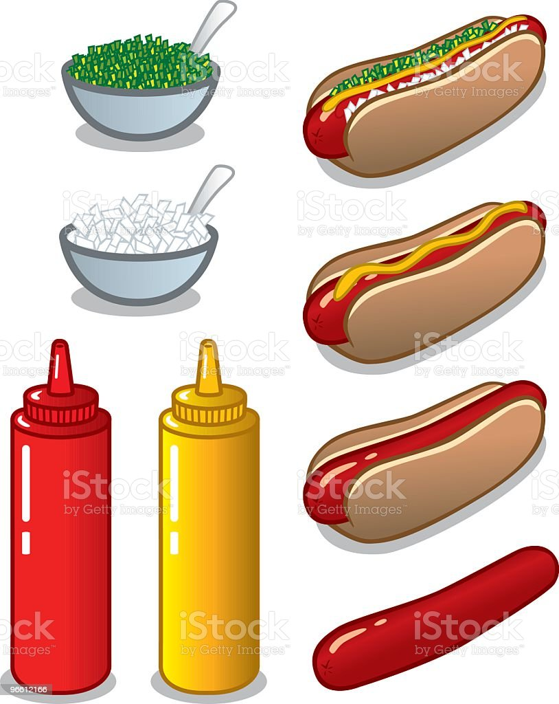 Do It Yourself Hot Dog Kit vector art illustration
