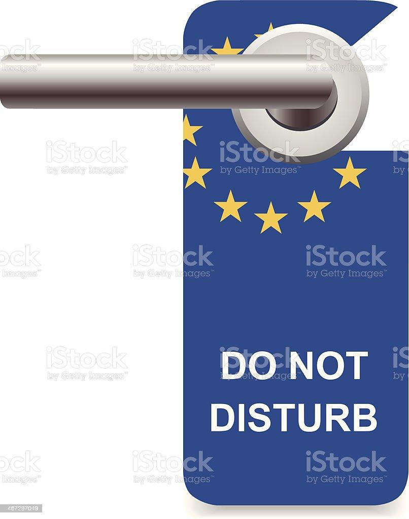 Do Not Disturb European Union vector art illustration