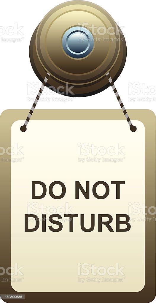 Do not disturb royalty-free stock vector art