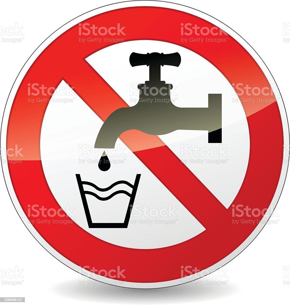 do not drink vector art illustration