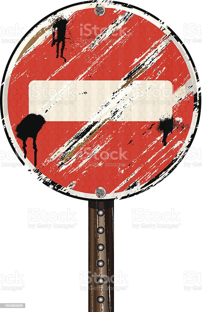 Do Not Enter Sign | Grunge Blank royalty-free stock vector art