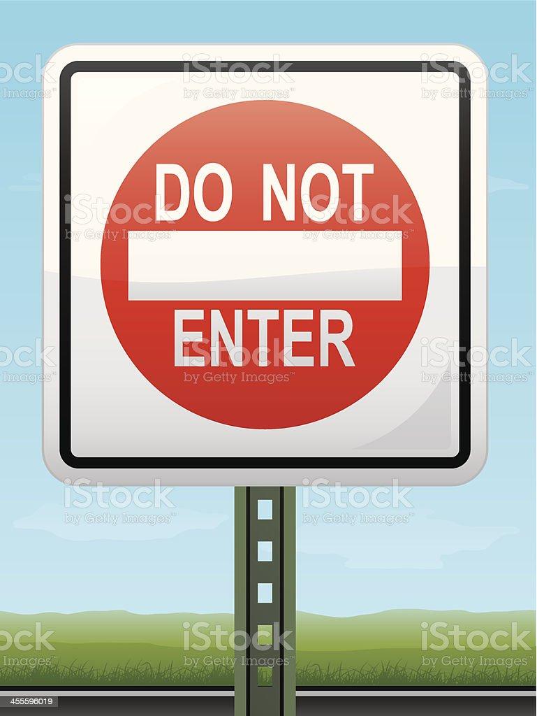 Do Not Enter Sign royalty-free stock vector art