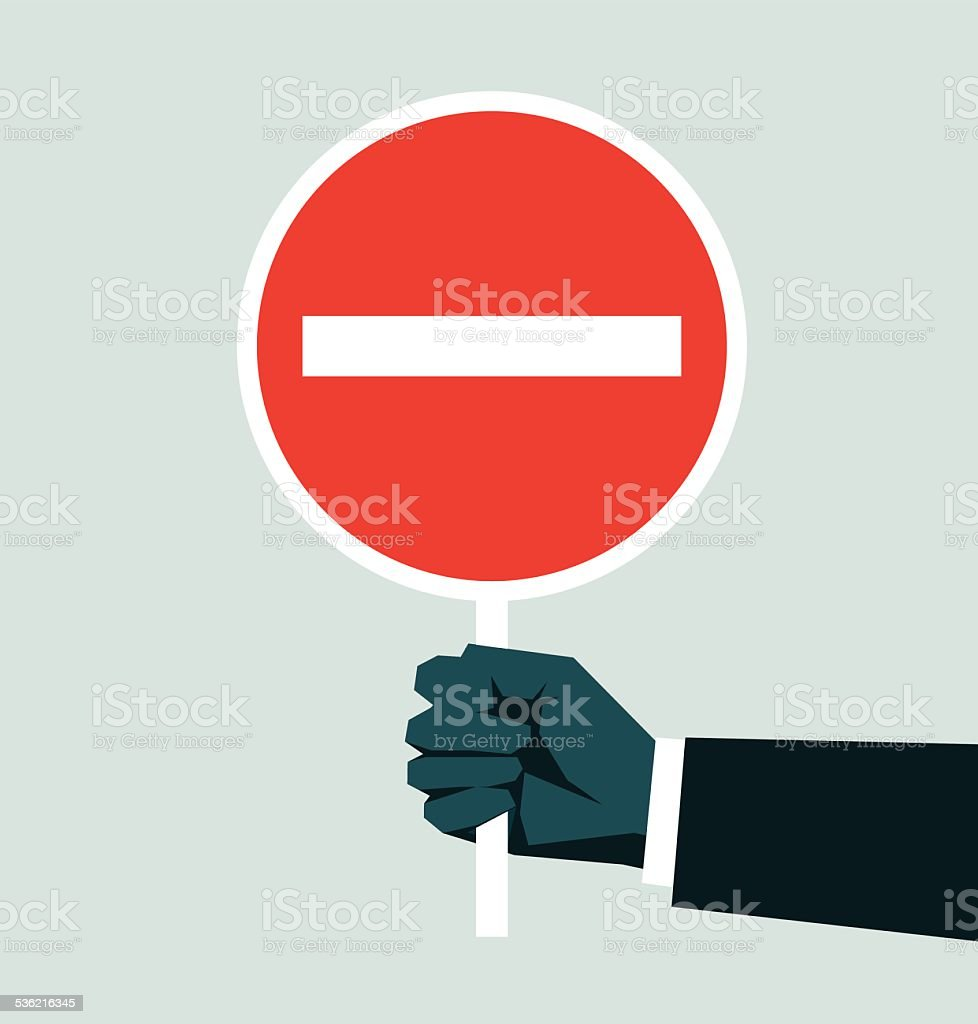 Do Not Enter Sign vector art illustration