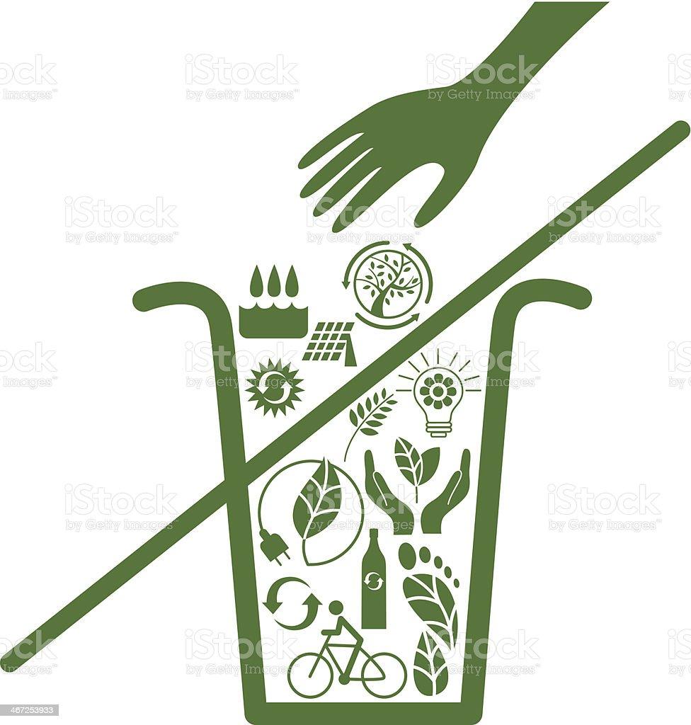 Do not throw away ecologic actions royalty-free stock vector art