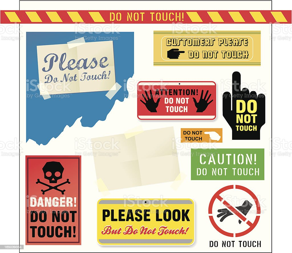 Do Not Touch! royalty-free stock vector art