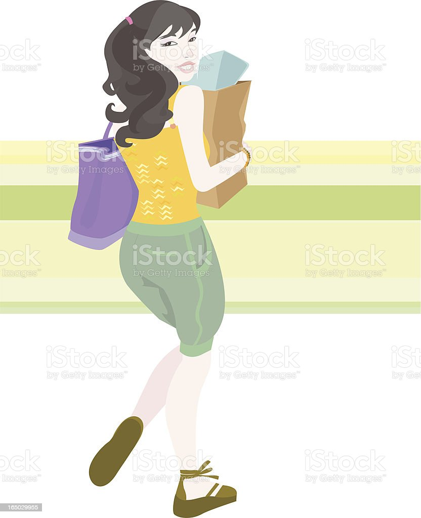 do the grocery vector art illustration