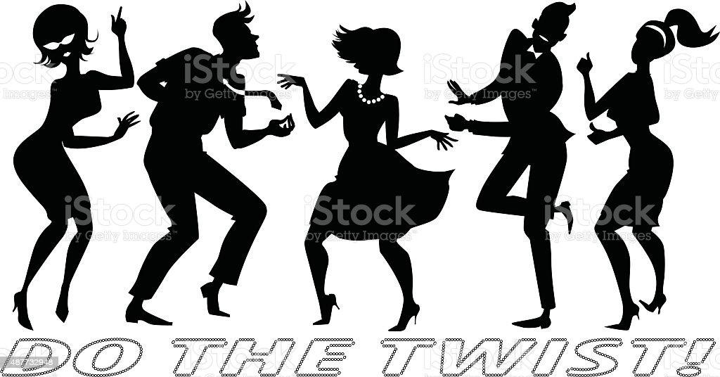 Do the Twist vector art illustration
