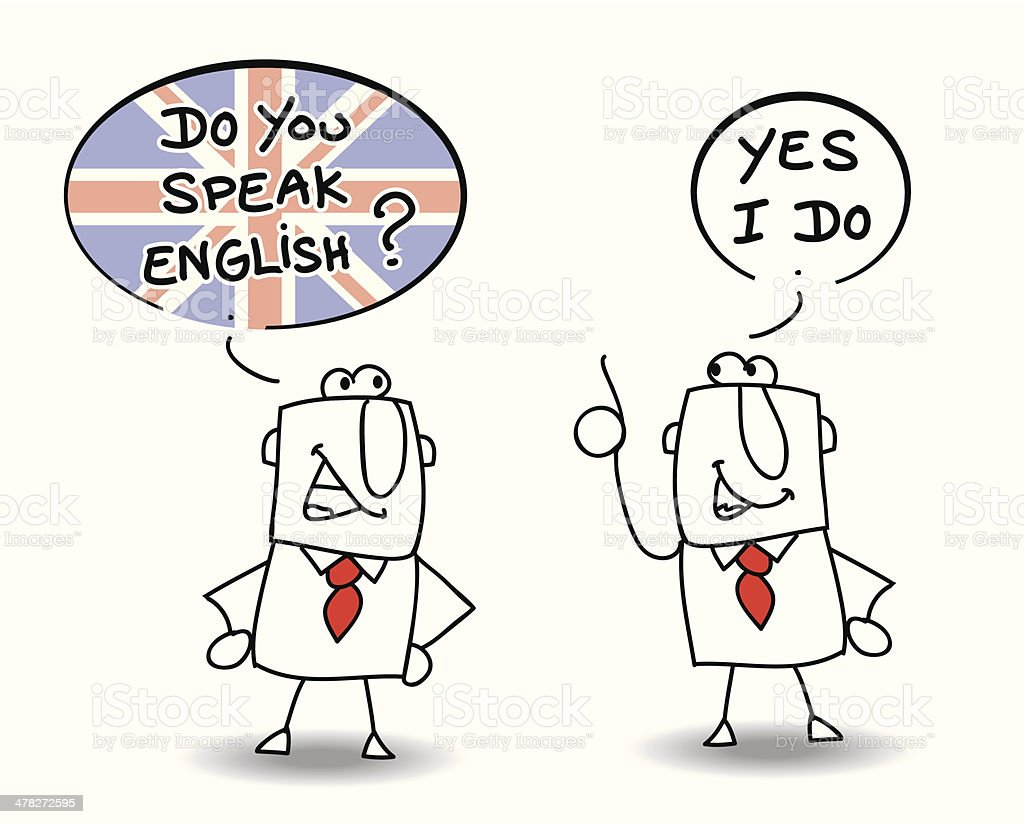 Do you speak english vector art illustration