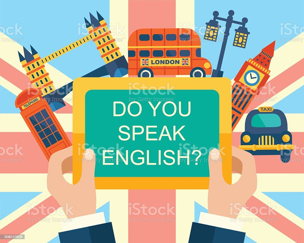 Do You Speak English? vector art illustration
