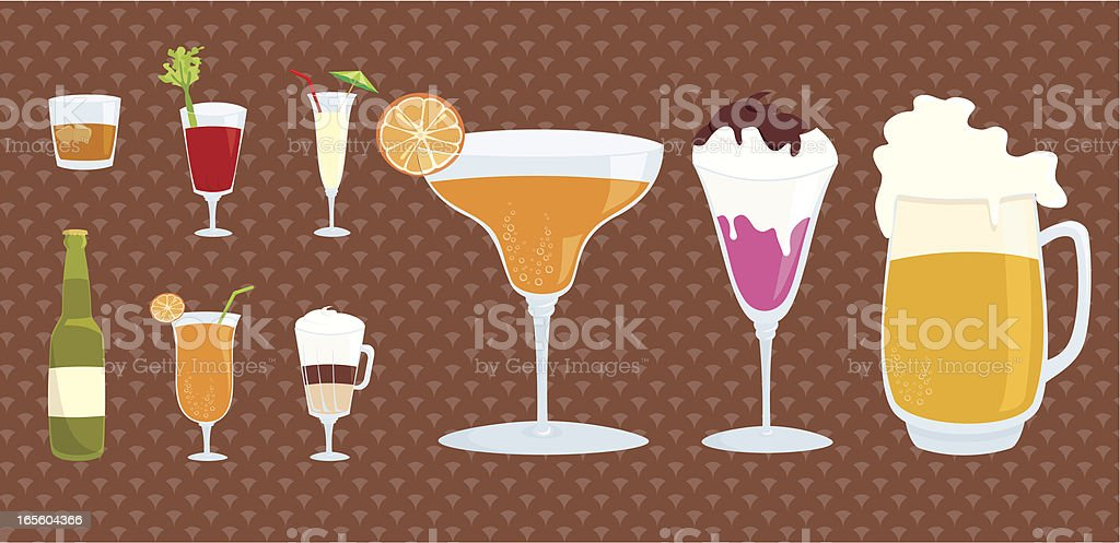do you want some drink? vector art illustration