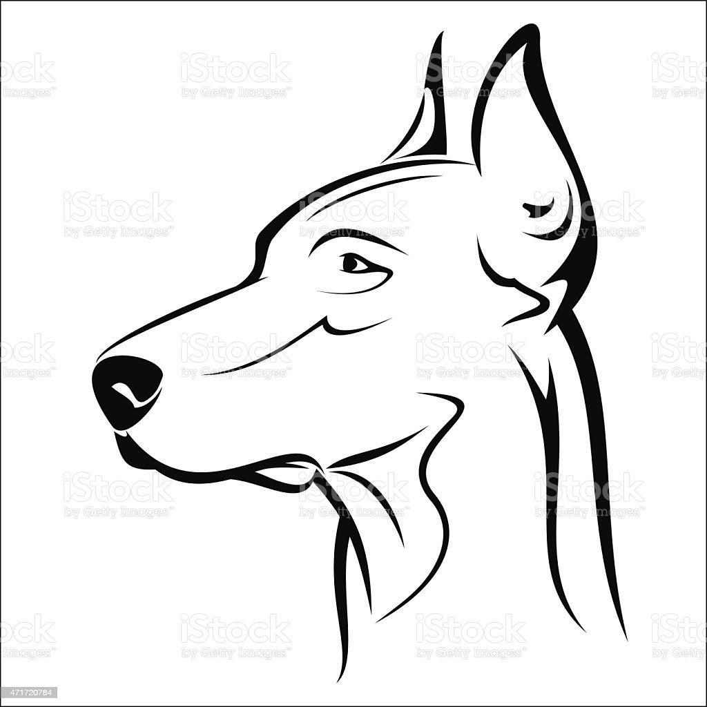 Doberman royalty-free stock vector art