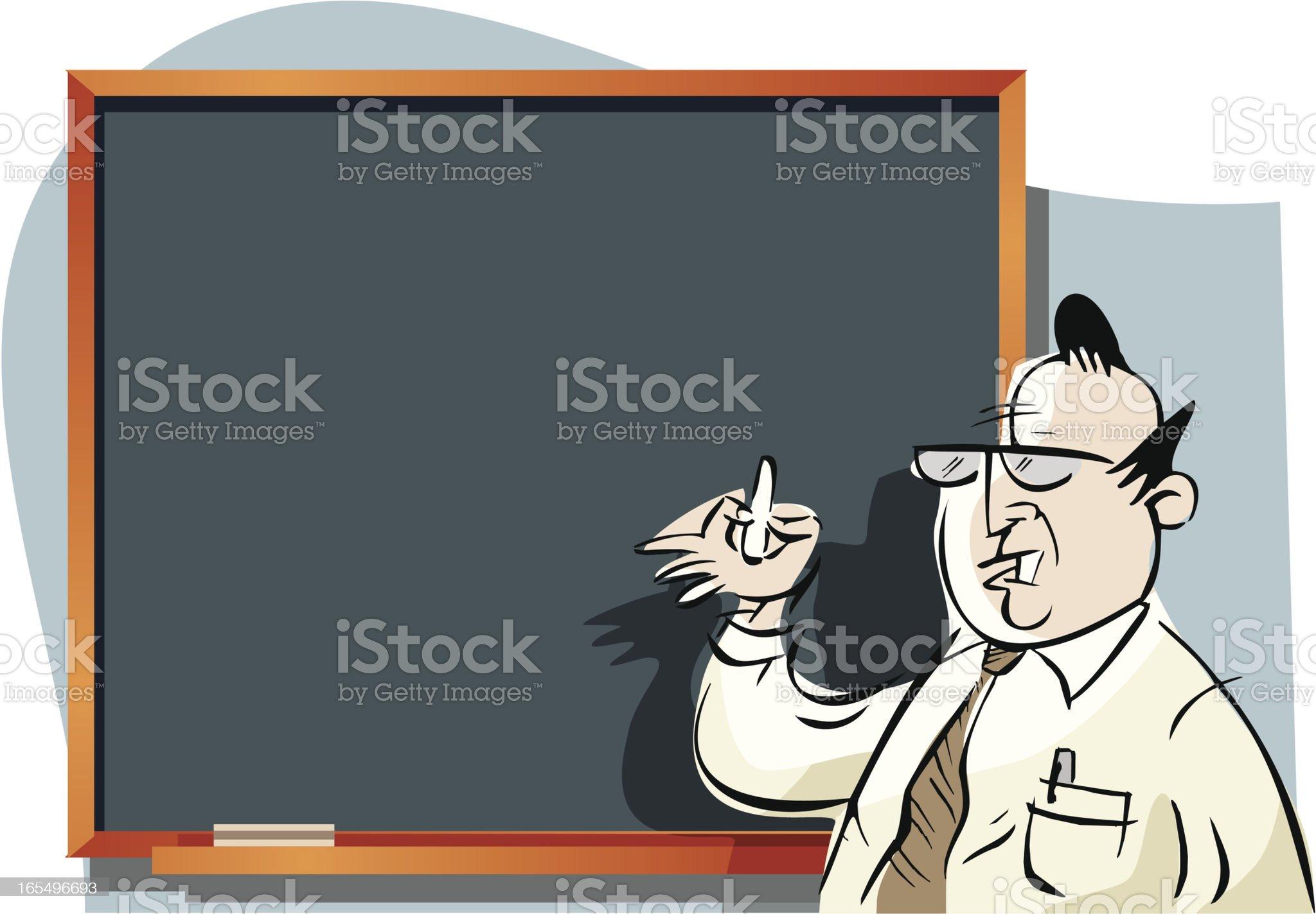 docente y pizarr?n royalty-free stock vector art