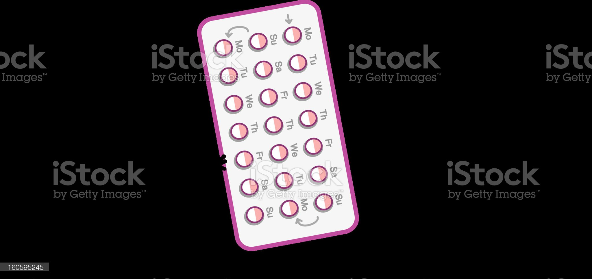 doctor and contraceptive pills royalty-free stock photo