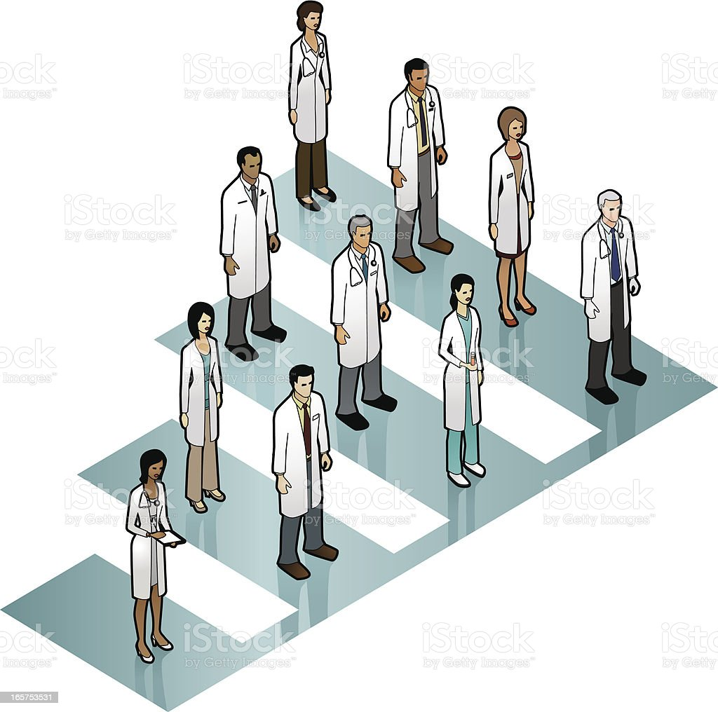 Doctor Bar Graph Image vector art illustration
