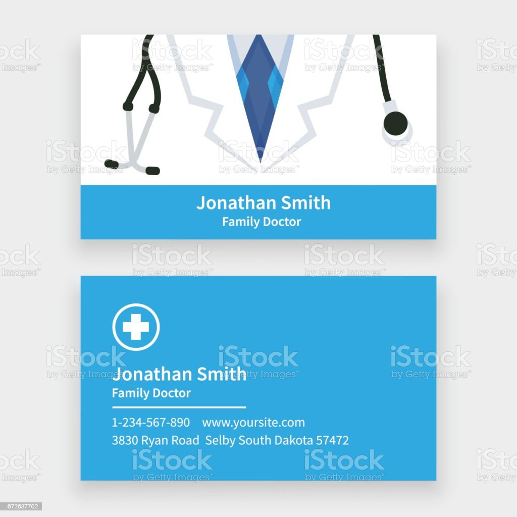 doctor business card stock vector art 672637702  istock