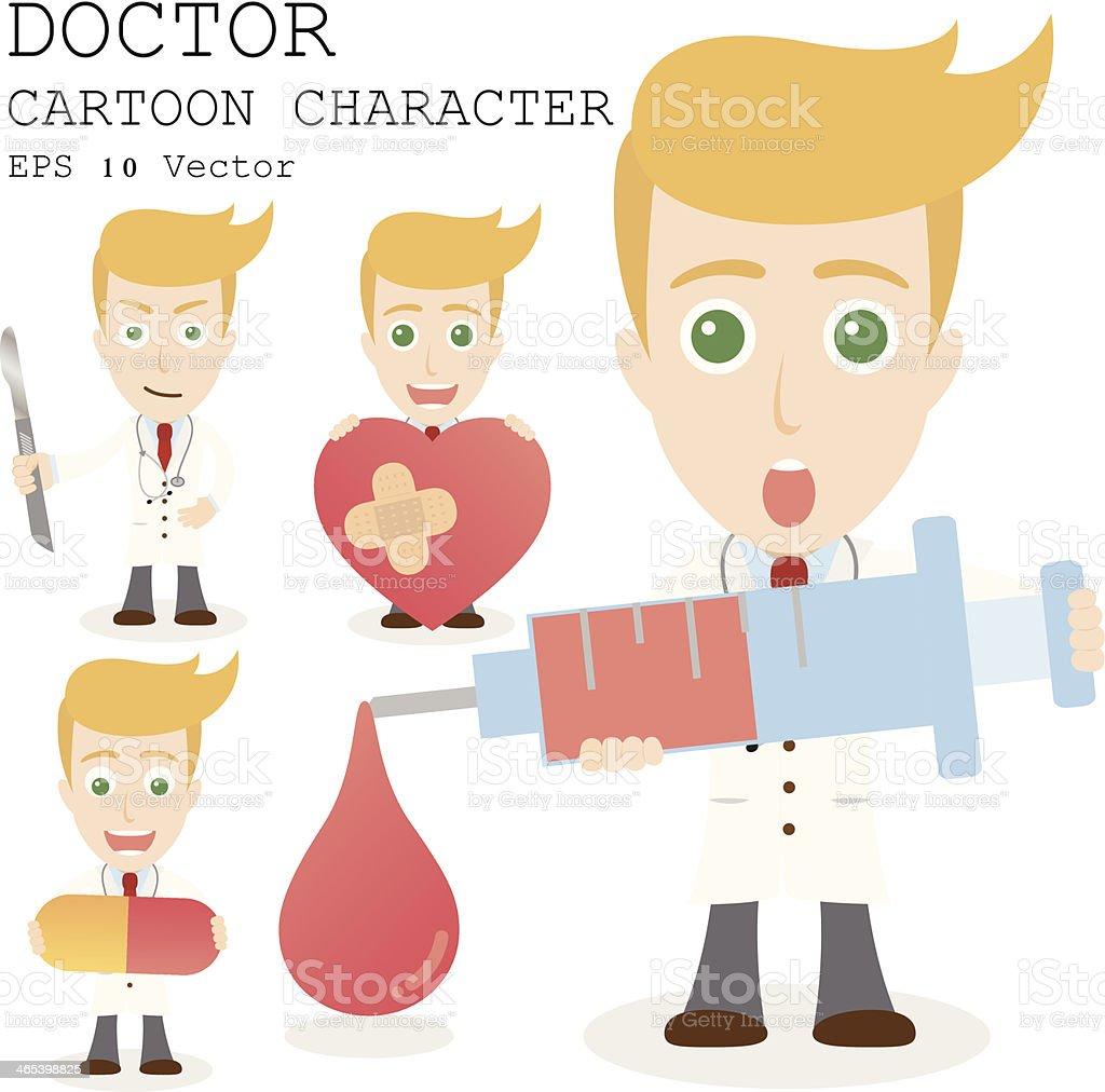 Doctor cartoon character EPS 10 vector royalty-free stock vector art