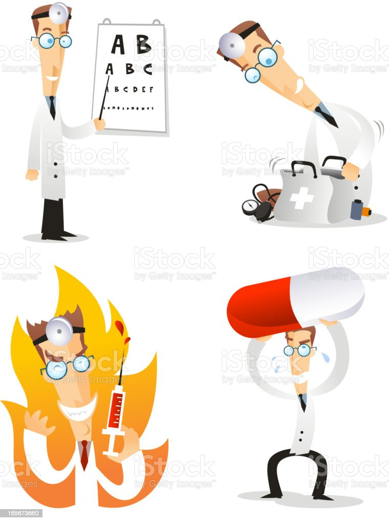 Doctor character royalty-free stock vector art