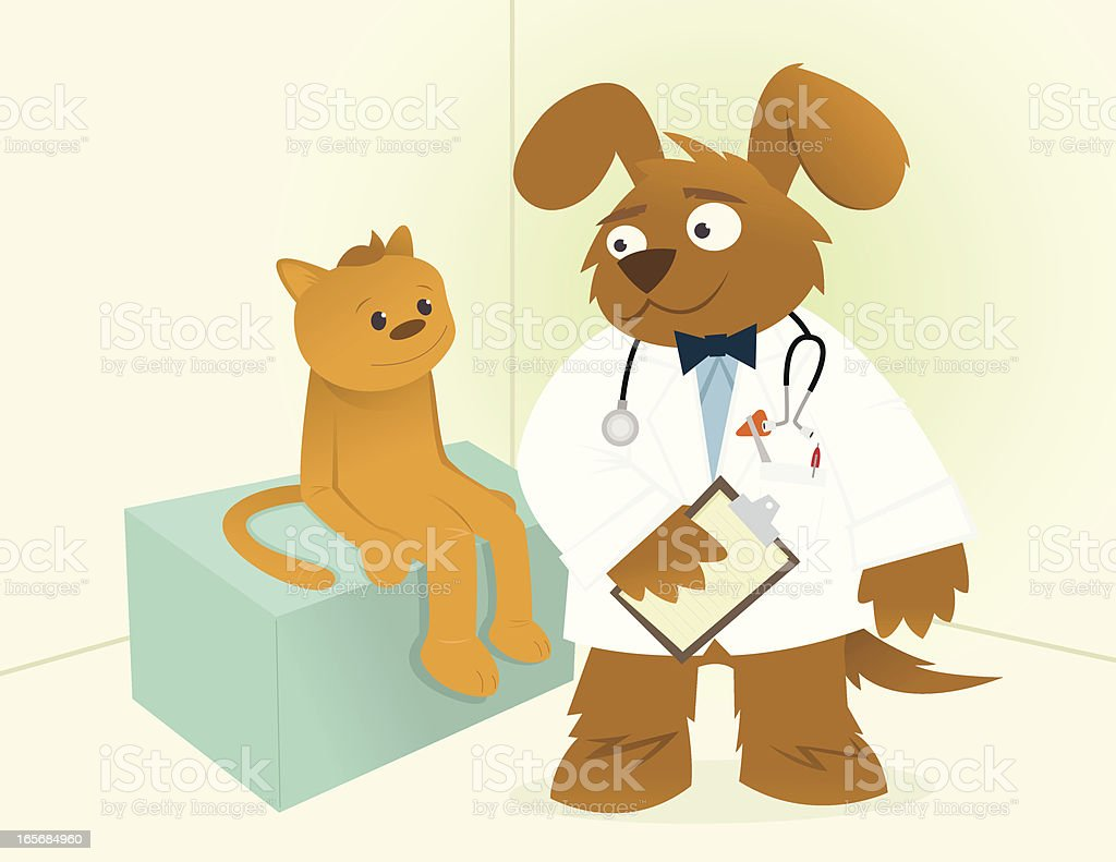 Doctor Dog vector art illustration