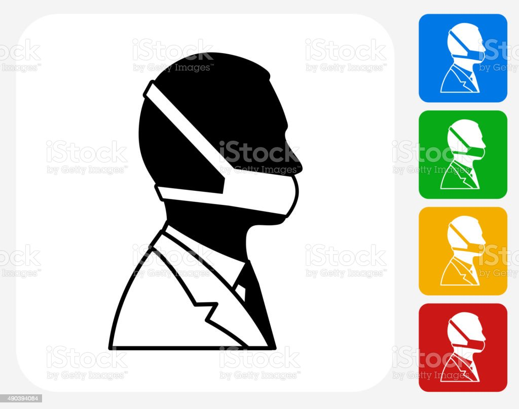 Doctor Face Icon Flat Graphic Design vector art illustration