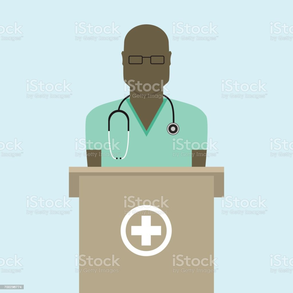 Doctor flat design vector art illustration