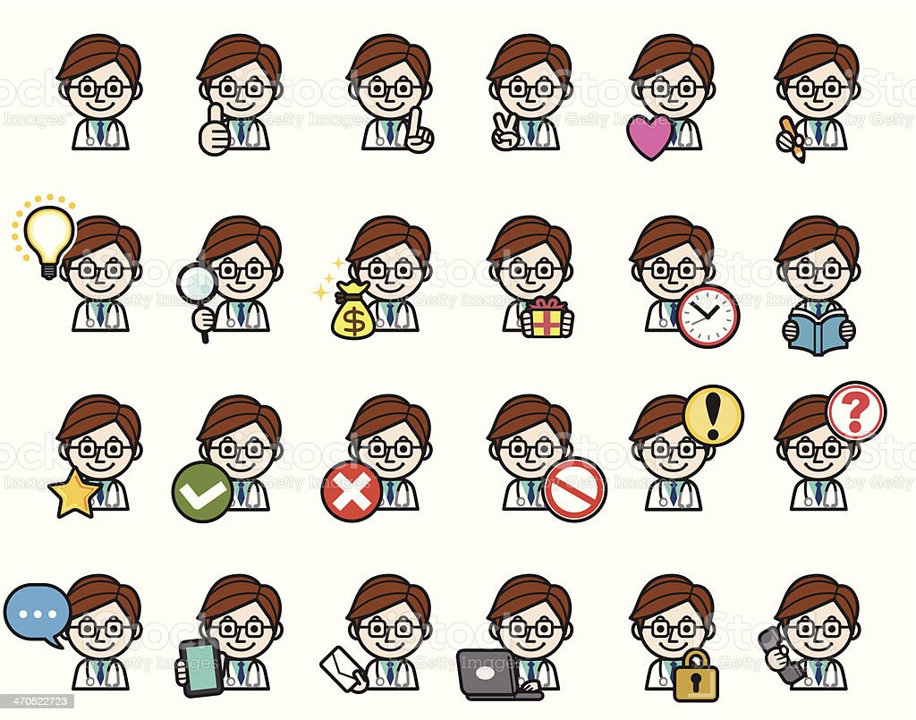 Doctor icons. royalty-free stock vector art