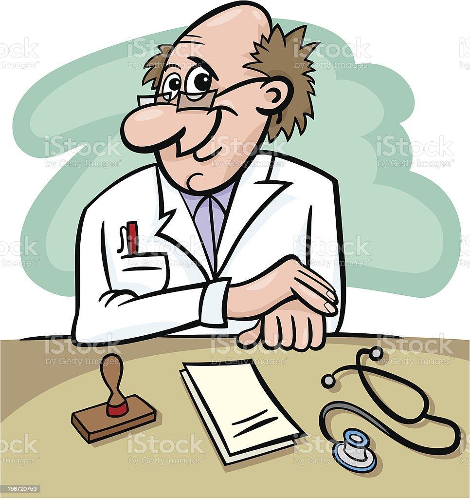 doctor in clinic cartoon illustration royalty-free stock vector art