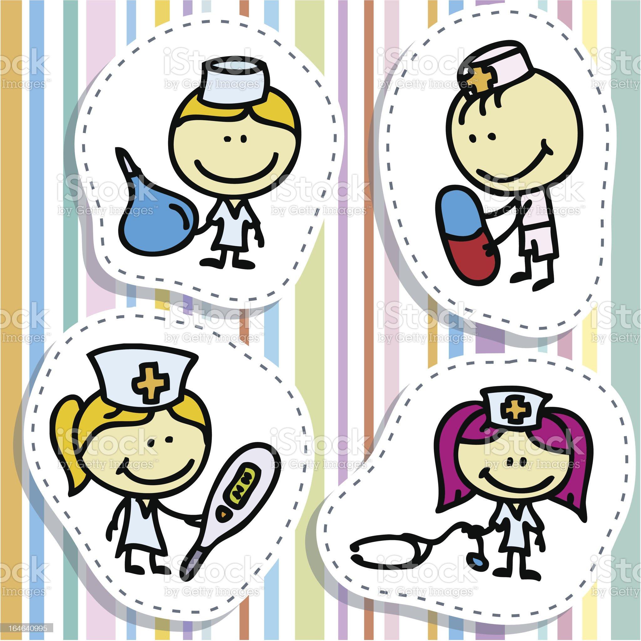 Doctor kids royalty-free stock vector art