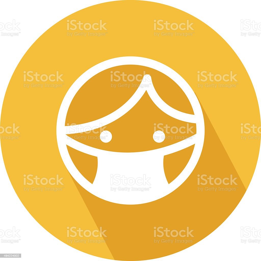 Doctor Mask Colored Vector Icon vector art illustration