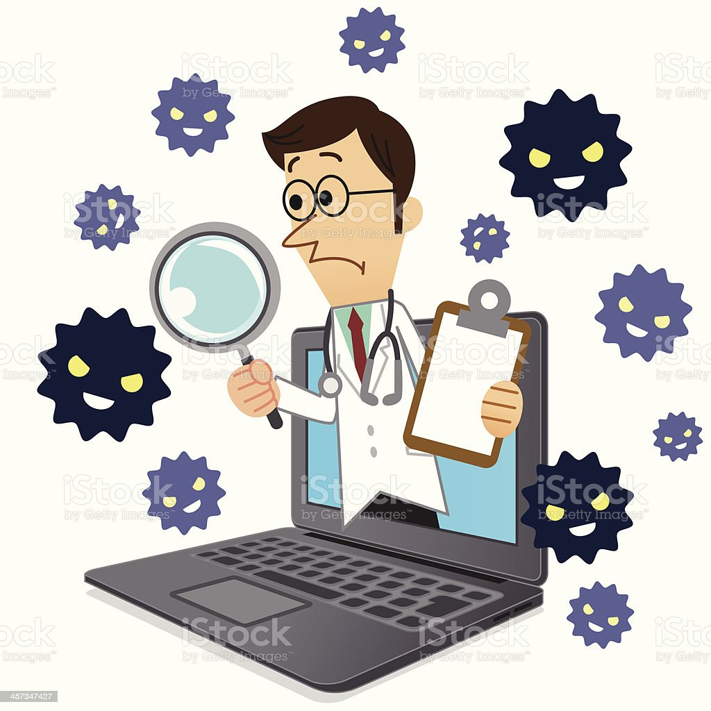 Doctor of Computers royalty-free stock vector art