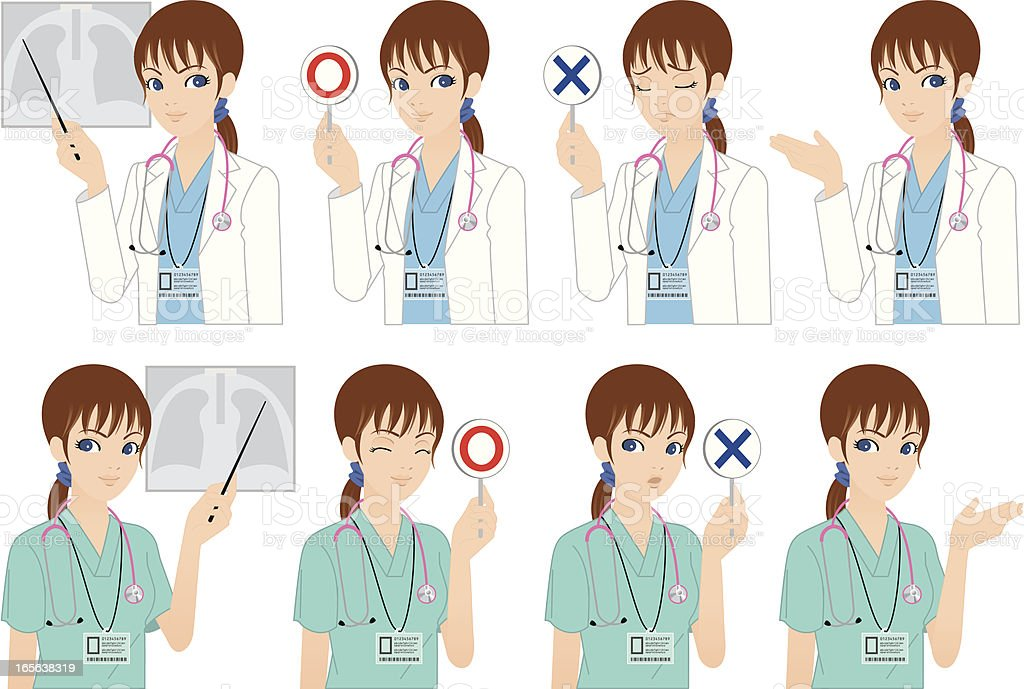 Doctor or Healthcare professional. royalty-free stock vector art