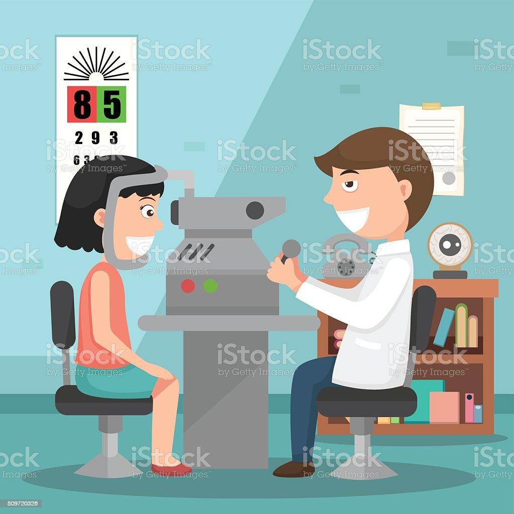 Doctor performing physical examination illustration vector art illustration