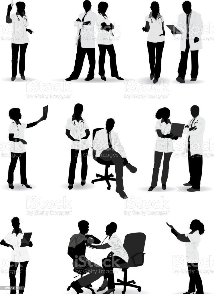 Doctor Silhouette vector art illustration