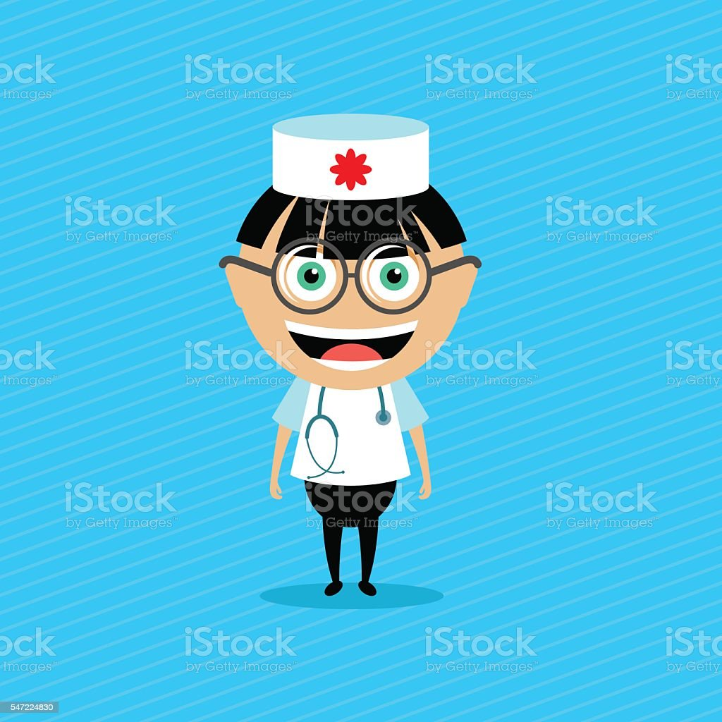 Doctor. Vector illustration, character. vector art illustration