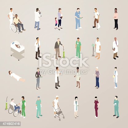 Doctors and patients illustration