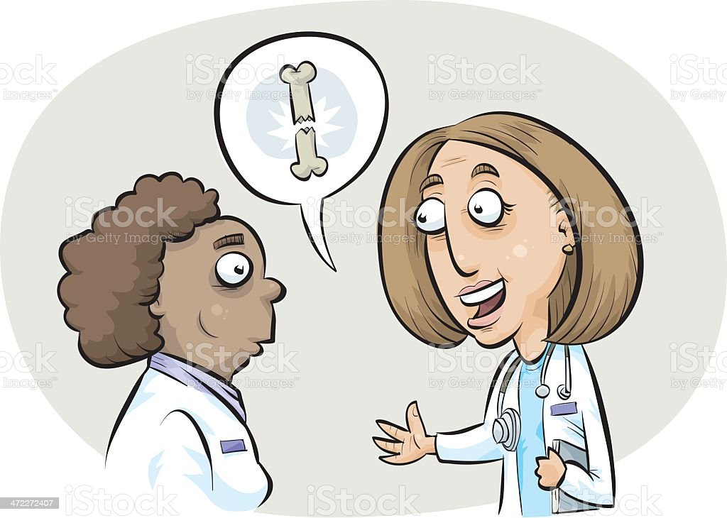 Doctors Consult royalty-free stock vector art