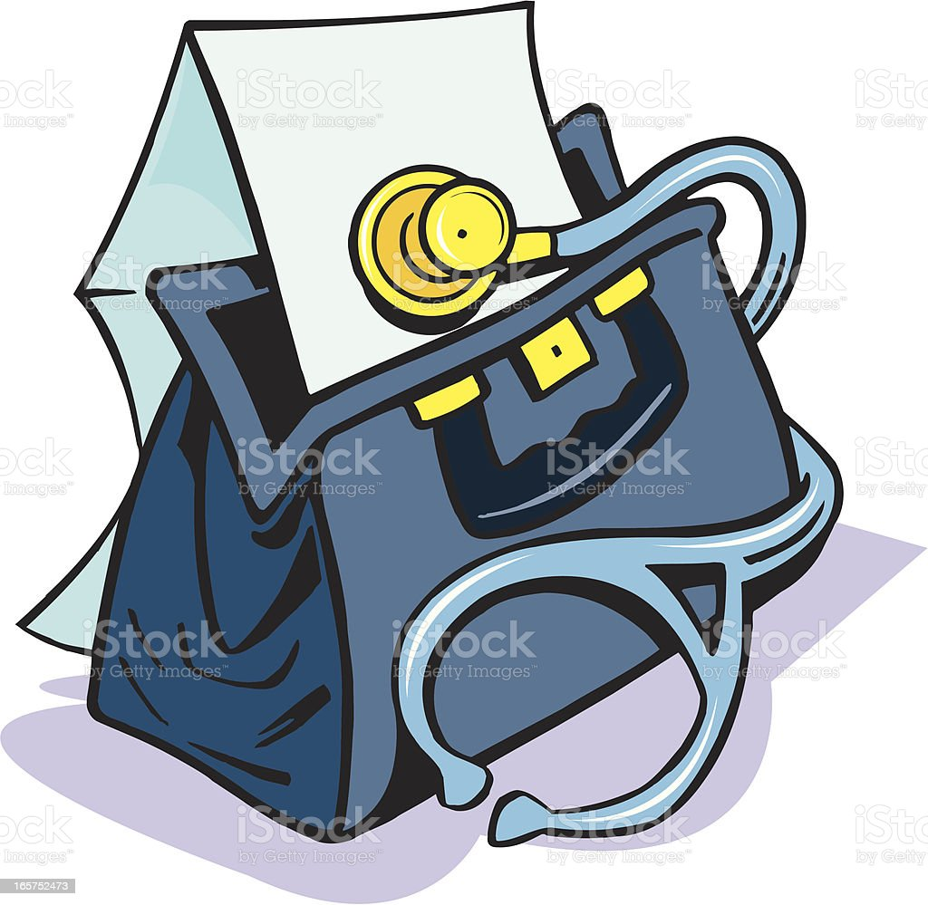 Doctor's Medical Bag and Invoice royalty-free stock vector art