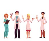 Doctors - nurse, surgeon, general practitioner and dentist