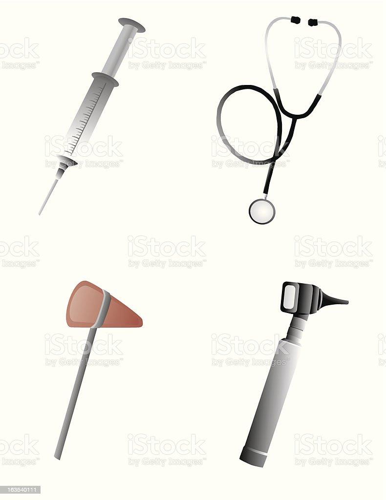 Doctors tools royalty-free stock vector art
