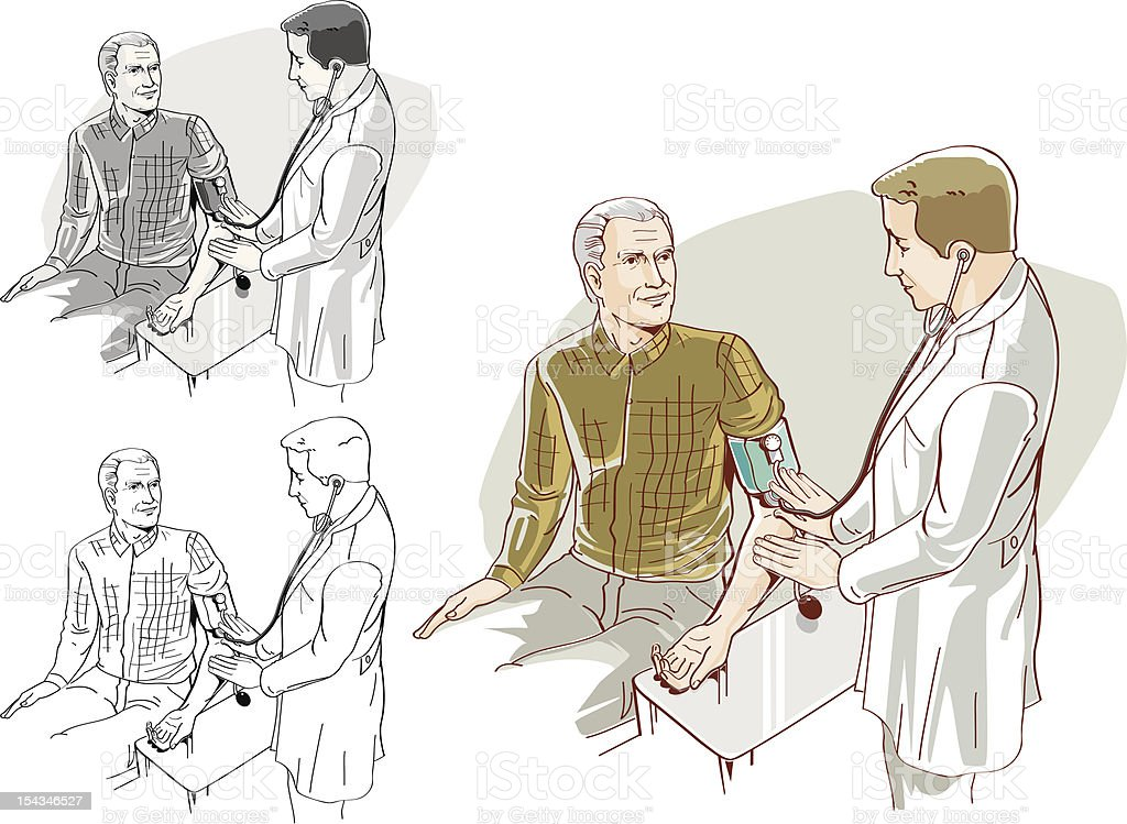 Врачи визитов для пожилых людей. Сток Вектор Стоковая фотография