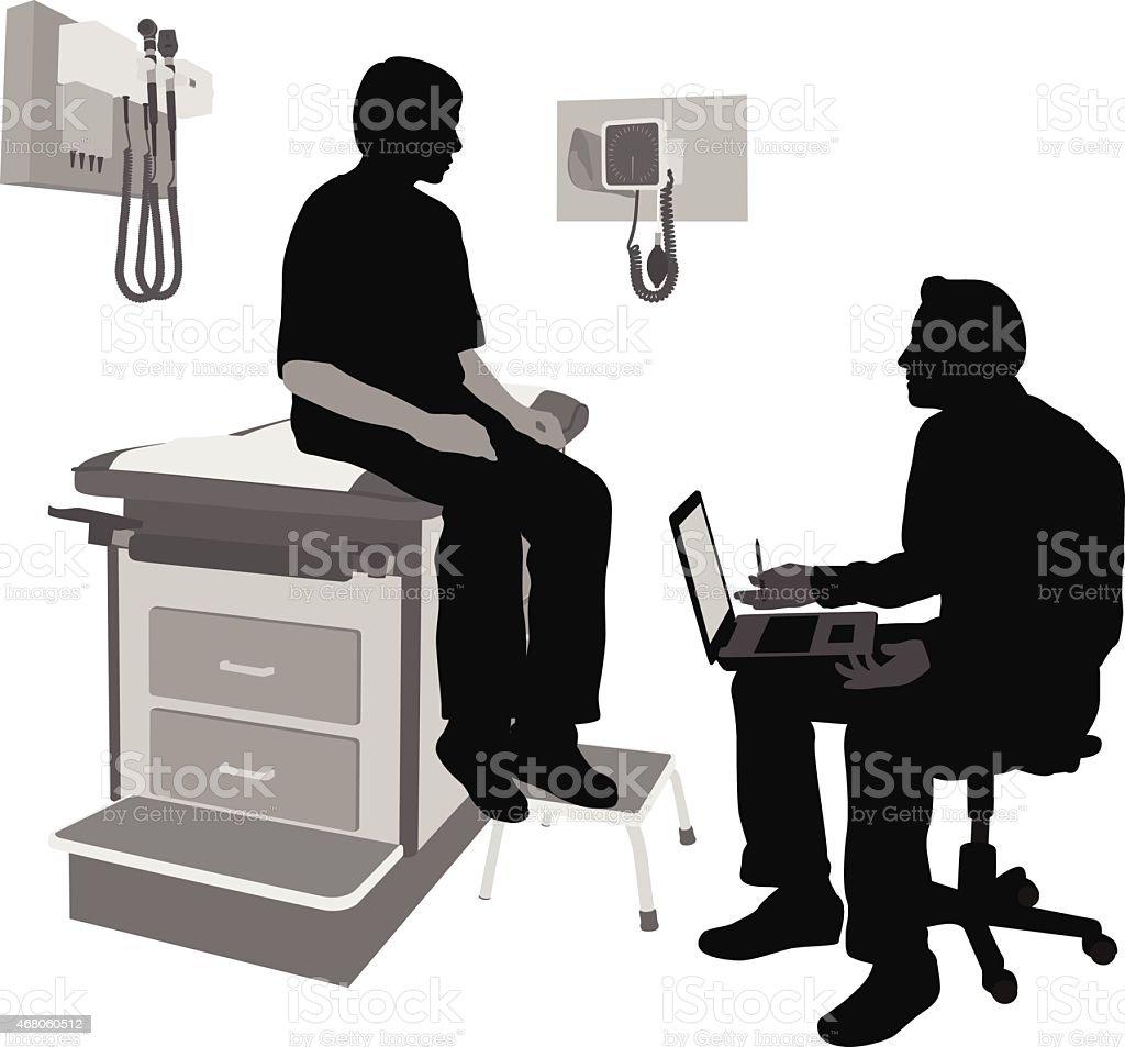 Doctor'sLaptop vector art illustration