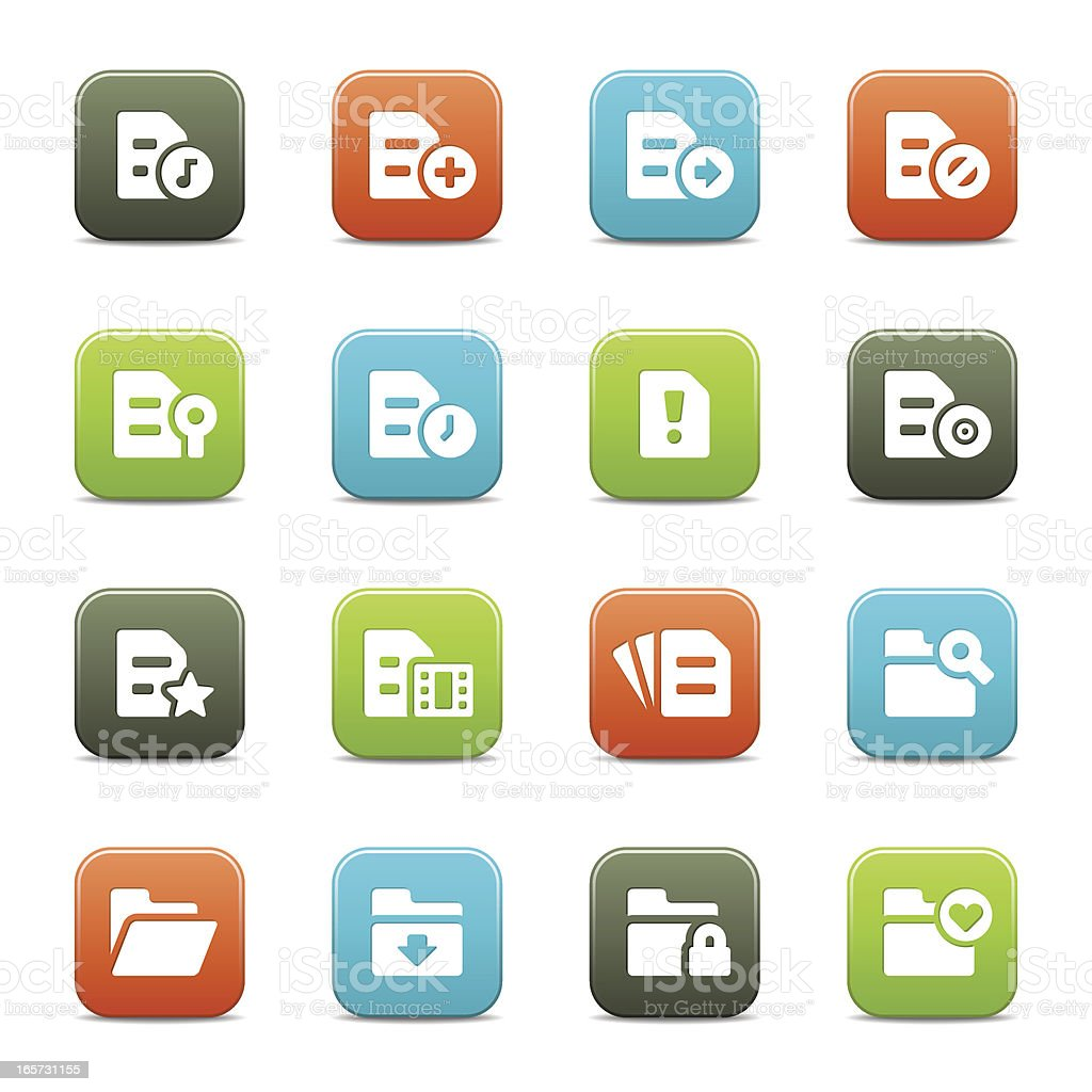 Document and Folder Icons royalty-free stock vector art