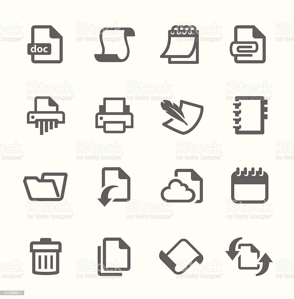 Document and papers icons vector art illustration