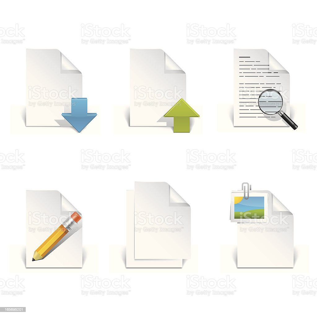 Document  Files Icon Set royalty-free stock vector art