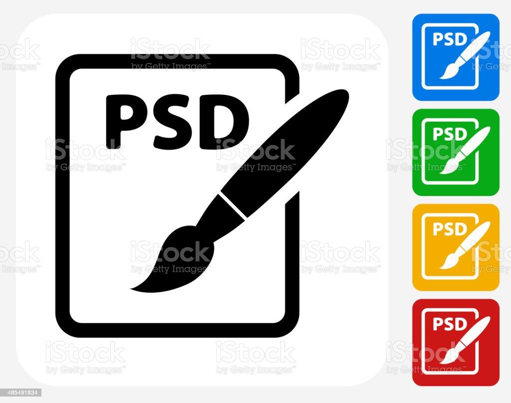 PSD Document Icon Flat Graphic Design vector art illustration